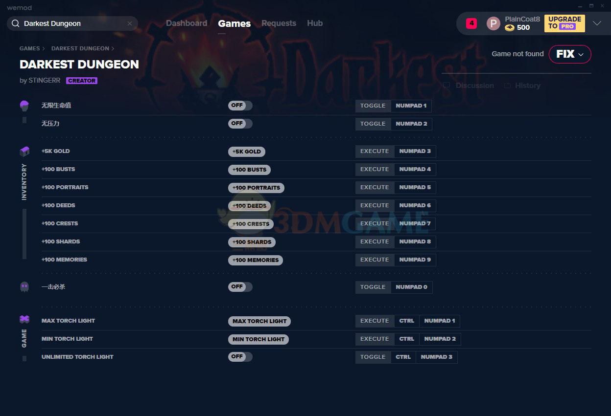 《暗黑地牢》Build25594十三项修改器[MrAntiFun]