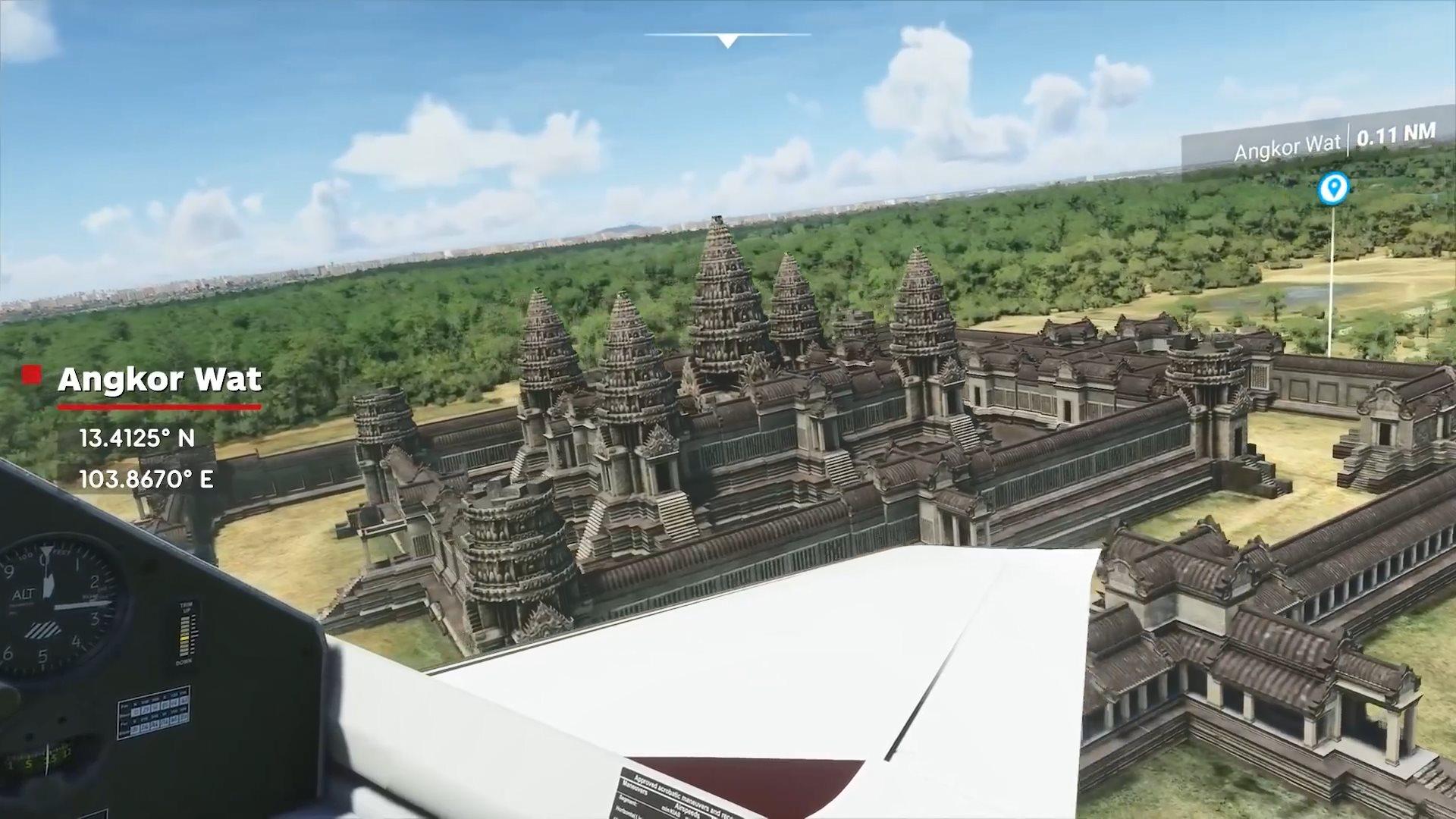 《微软飞行模拟》实机演示 饱览全球14个知名地标风景
