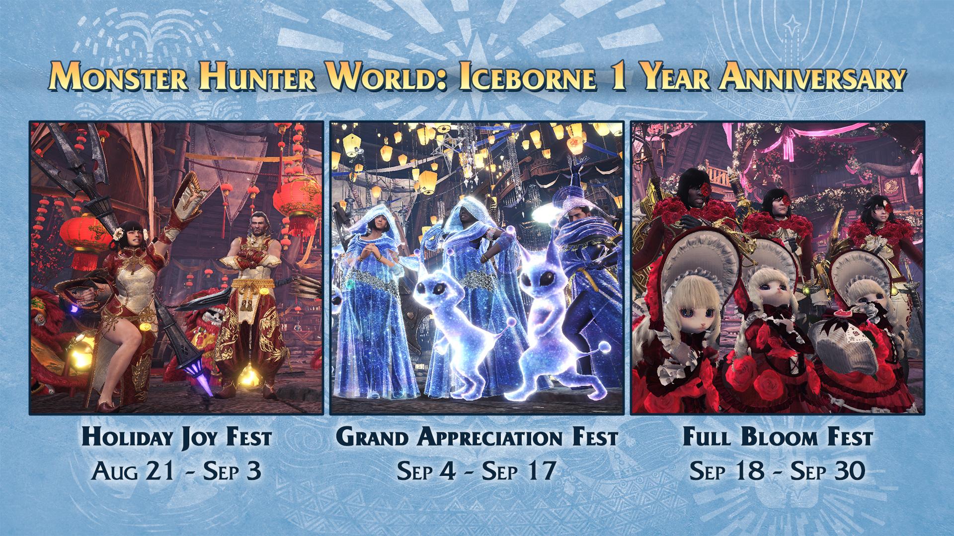 庆祝《怪物猎人世界:冰原》发售一周年 将再次举办星辰祭/月辰祭