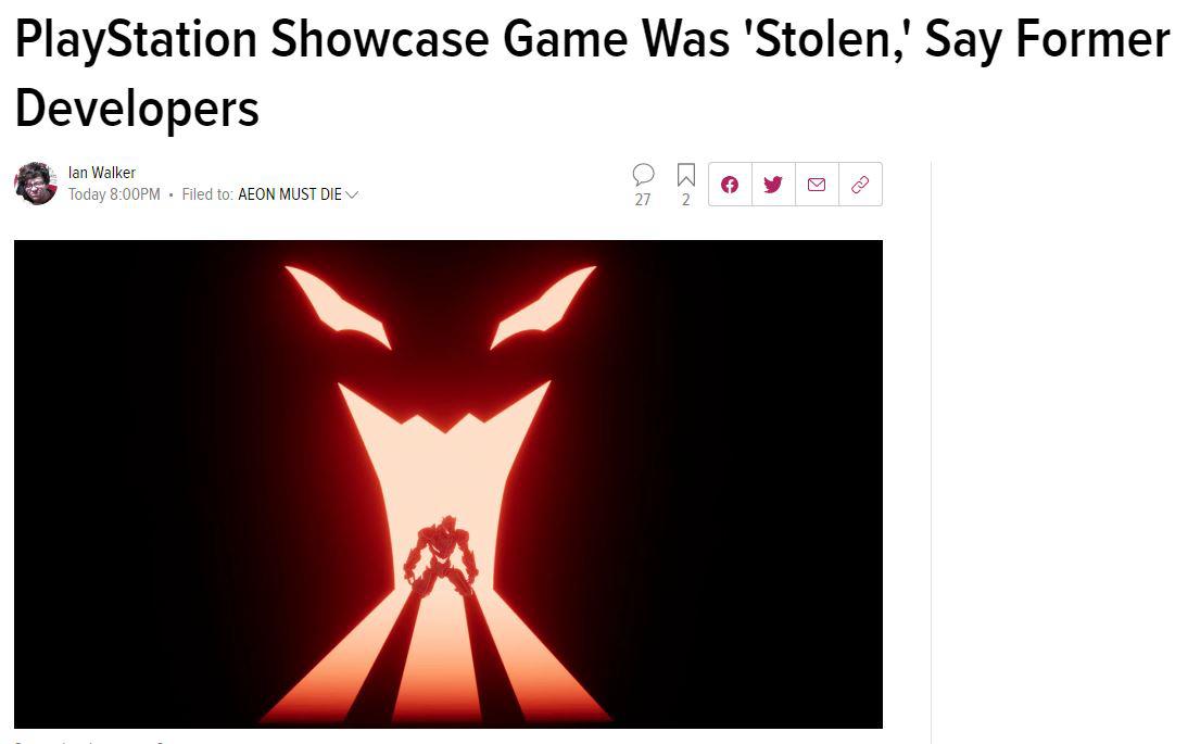 索尼直播发布的游戏是被偷来的? 前开发人员发出控诉