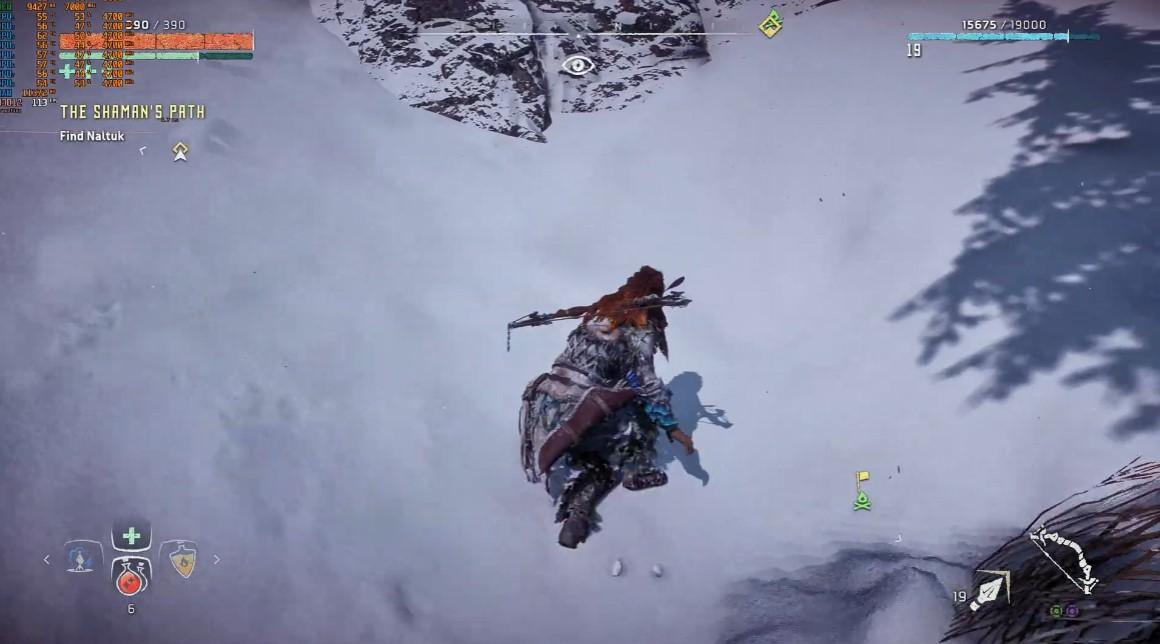 《地平线:黎明时分》PC版积雪没有变化效果 主角头发有BUG