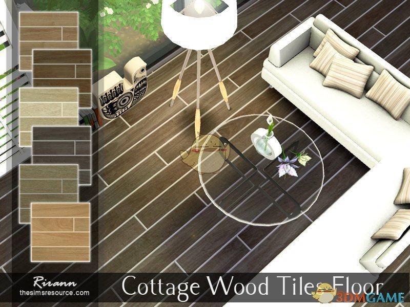 《模拟人生4》小屋木砖地板MOD