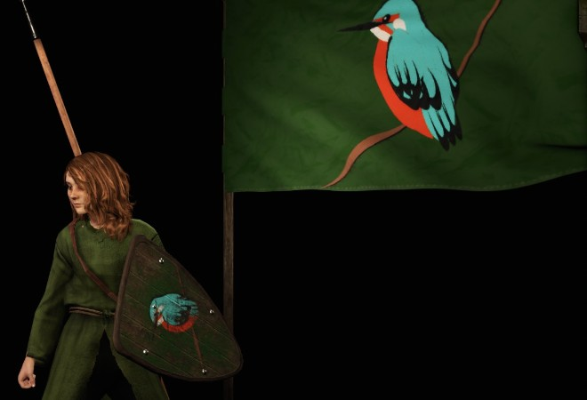 《骑马与砍杀2》翠鸟旗帜MOD
