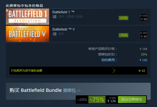Steam疯狂周三:《战地》系列作品均有新史低价