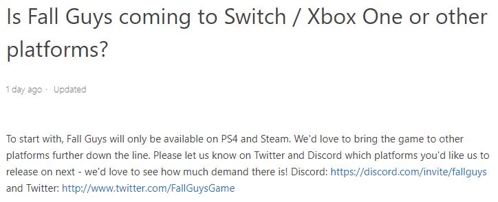《糖豆人:终极淘汰赛》有望登陆XB1和Switch