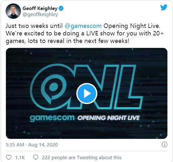 科隆展开幕之夜直播 将有超过20款游戏亮相
