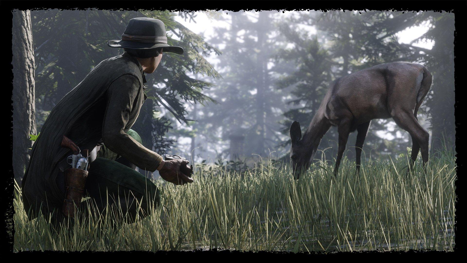 《荒野大镖客OL》推出目击传闻:传说踏泥公鹿和传说白雪公鹿