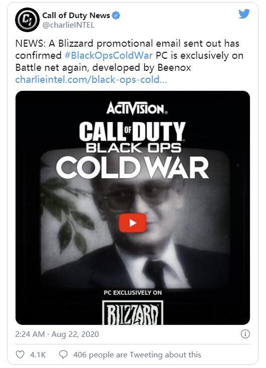 《使命召唤:黑色行动冷战》PC版依然为战网独占