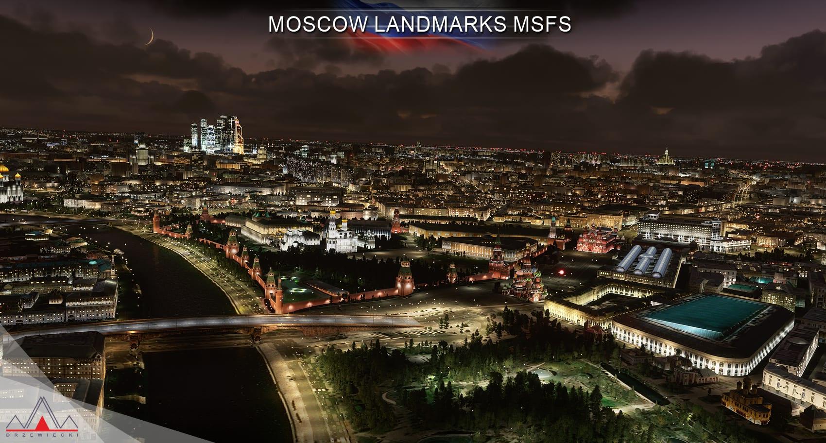 《微软飞行模拟》新附加插件 让莫斯科的风景更美丽