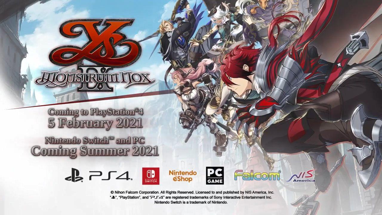 《伊苏9》欧美版明年2月推出 NS/PC版夏季发售