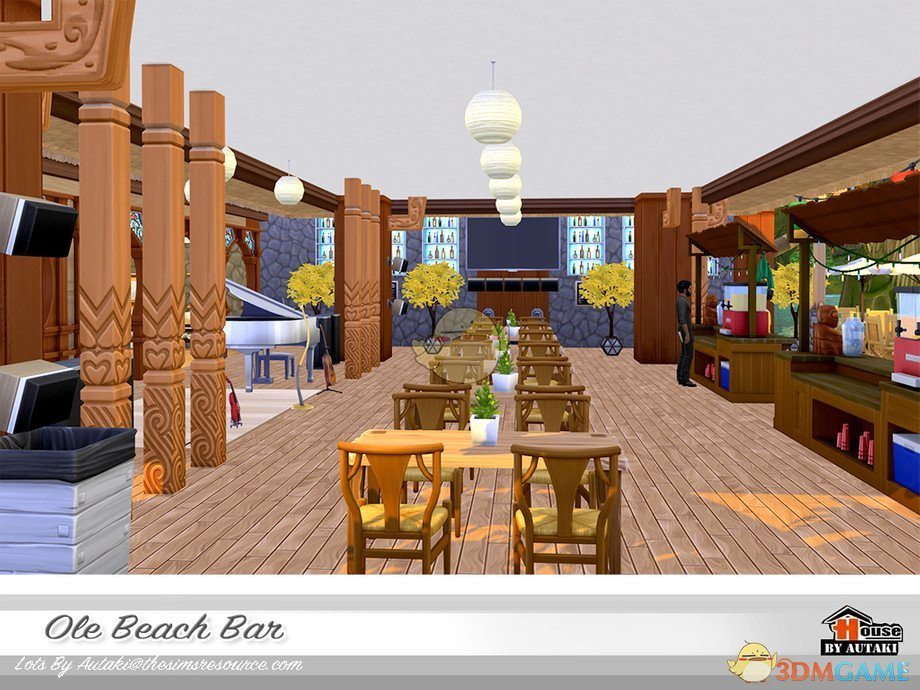 《模拟人生4》豪华的海滩酒吧MOD