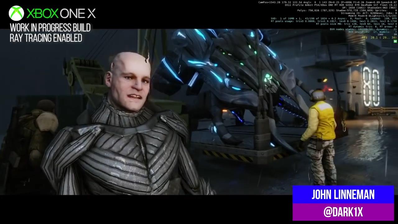 XboxOneX版 《孤岛危机:重制版》光追效果演示