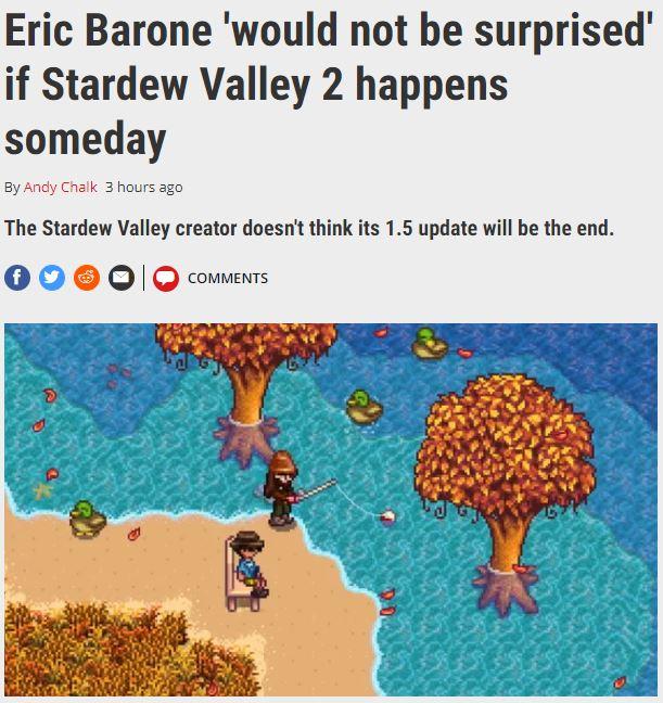 1.5版本不是结束 《星露谷物语2》存在推出可能性