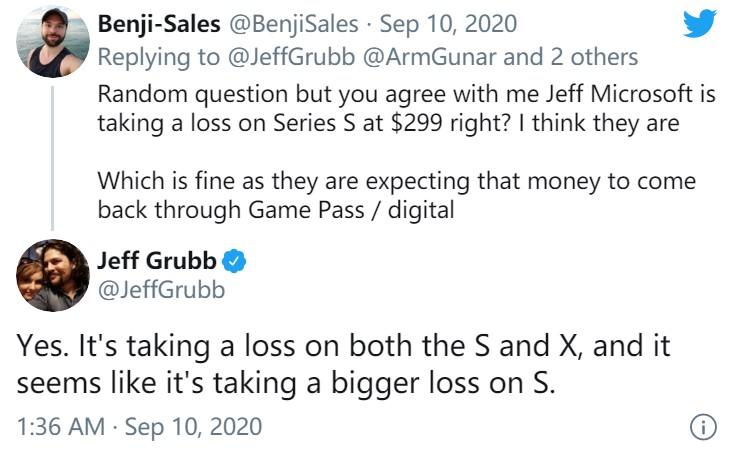 业内人士:XSX/XSS微软都是赔钱卖 低配版亏的更多