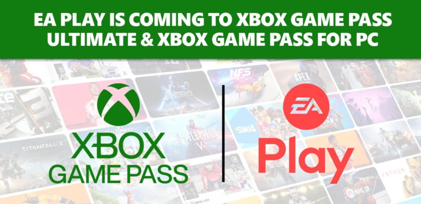 订阅Xbox Game Pass将于今年底免费获得EA Play会员资