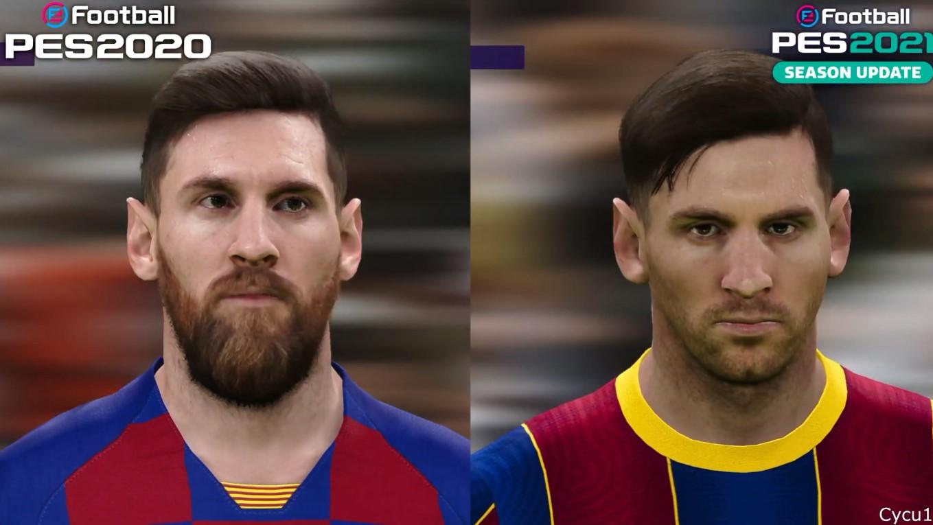 《实况足球2021》vs《实况足球2020》 也没啥变化 确实只是单纯赛季更新