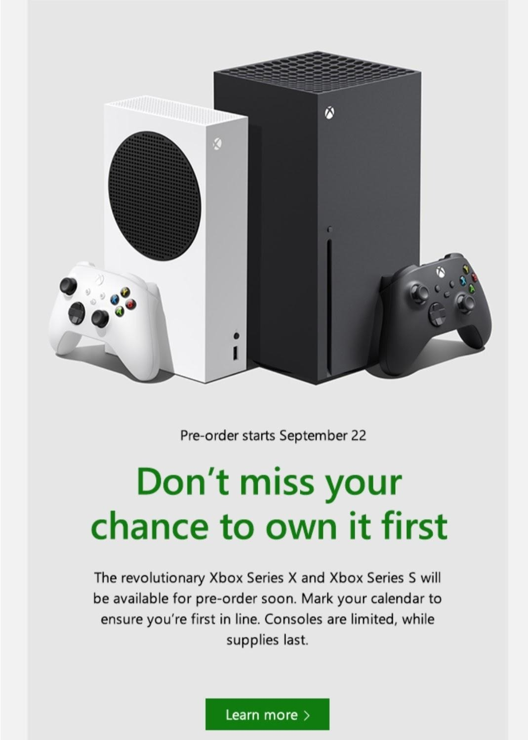 新一代Xbox游戏机的预购数量将是有限的