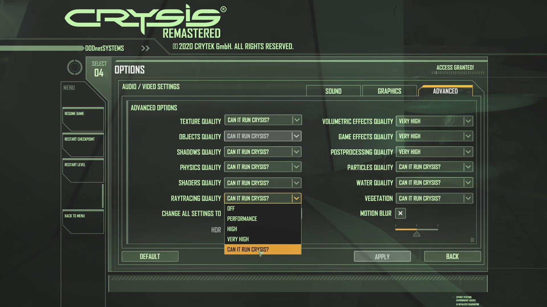 《孤岛危机:重制版》PC基准测试 2080Ti也不能特效拉满