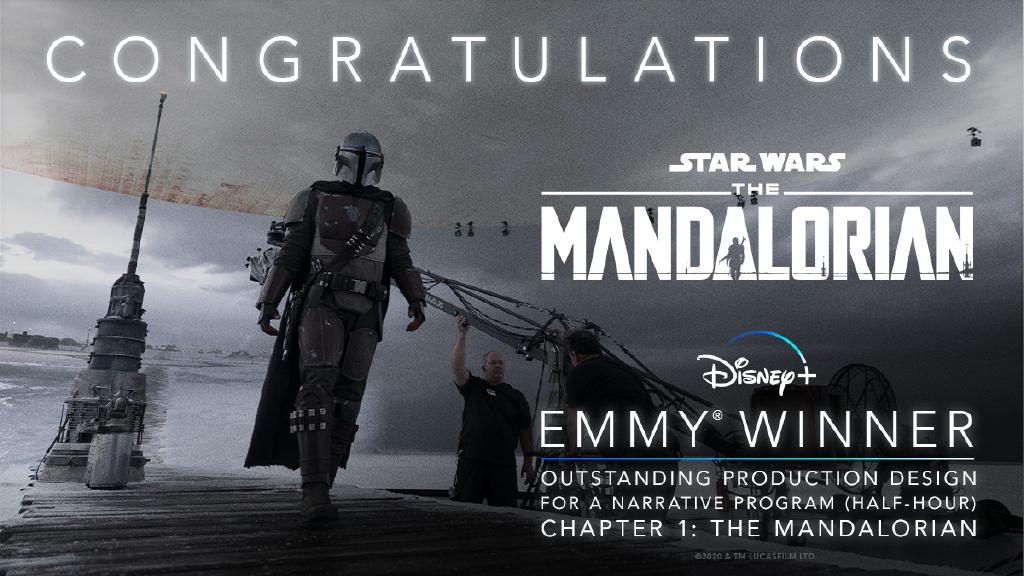 《曼达洛人》第一季狂揽5项艾美奖 成最大赢家