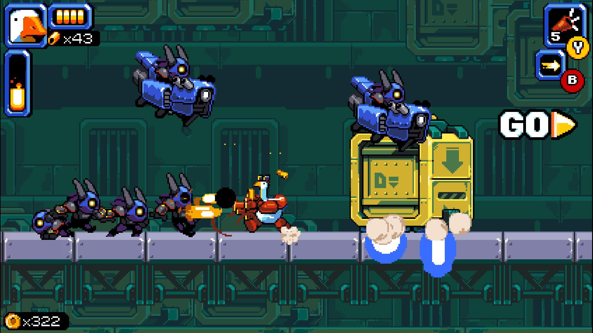 横版动作游戏《暴走大鹅》公布 计划于2021年发售