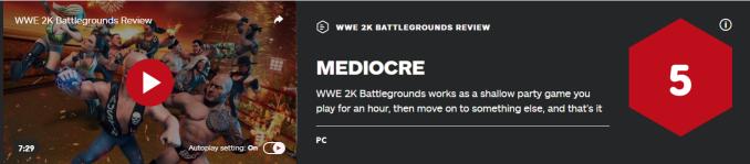 《WWE 2K竞技场》IGN 5分:十分粗浅且存在缺陷