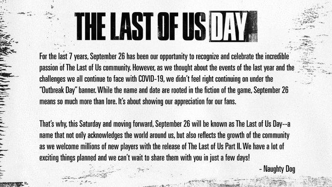 《最后的生还者》爆发日改名为最后生还者日 活动将揭晓