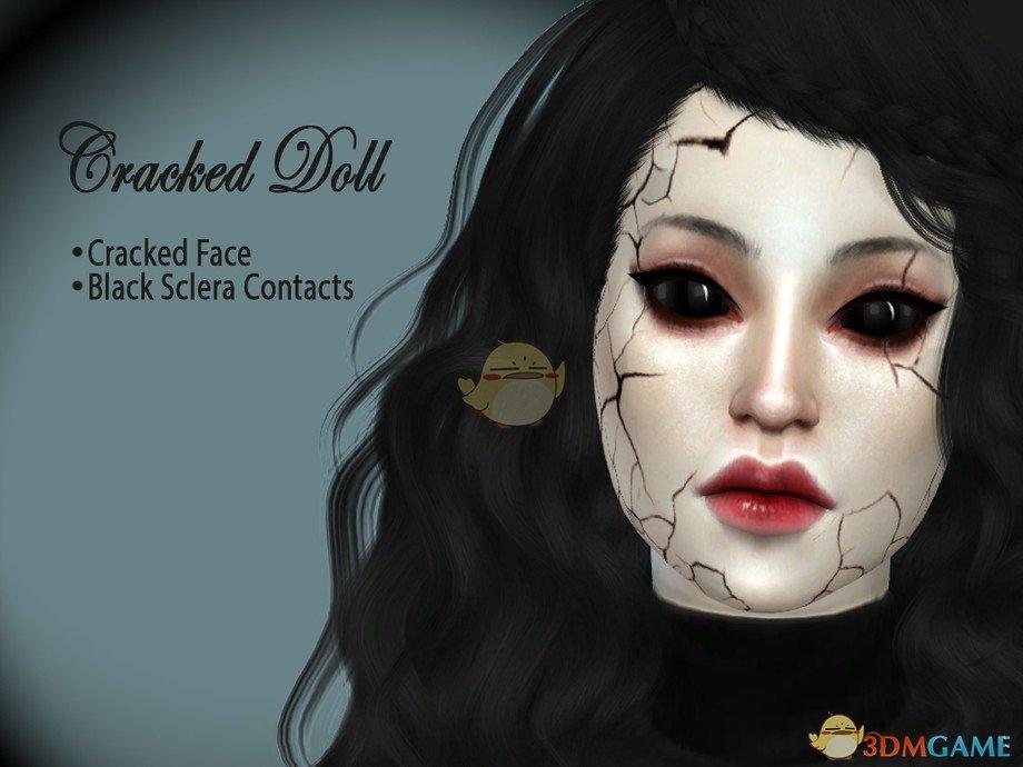 《模拟人生4》恐怖裂痕脸MOD
