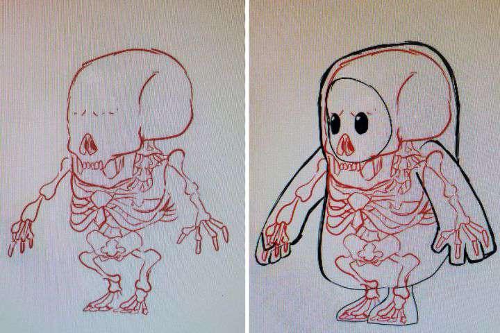 一千名玩家的脑海中,有一千幅糖豆人的解剖图