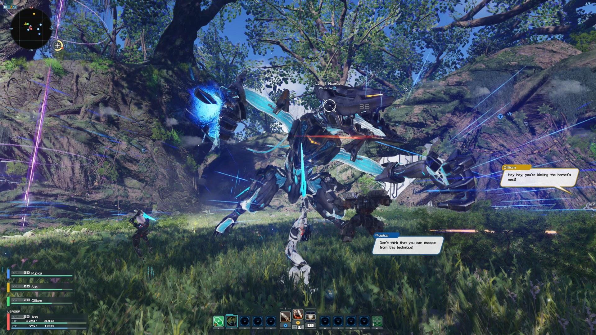 《梦幻之星online2:新起源》战斗系统及开放世界演示