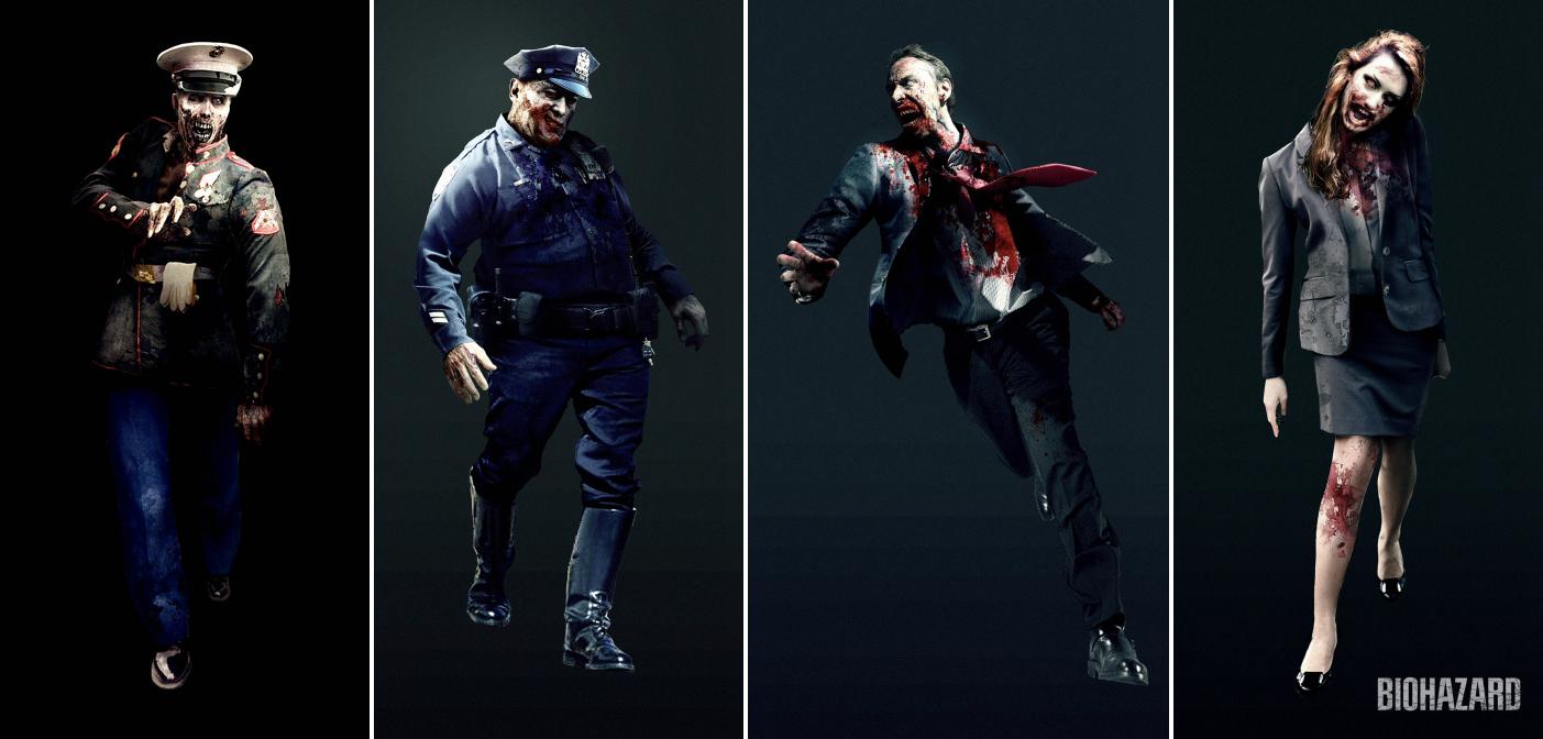 CG动画《生化危机:无限黑暗》概念原画 多种丧尸公开