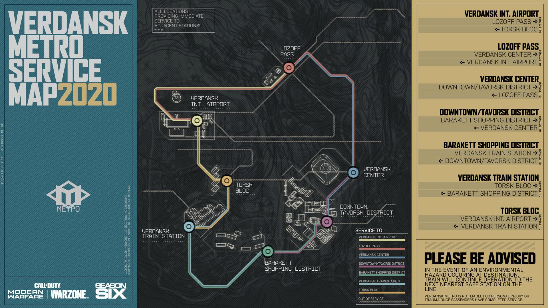 快速旅行或将带来新战术 《使命召唤:战区》加入地铁系统