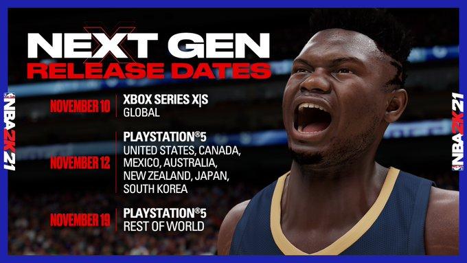 《NBA 2K21》次世代版发售日公布!先登XSX/S再登PS5