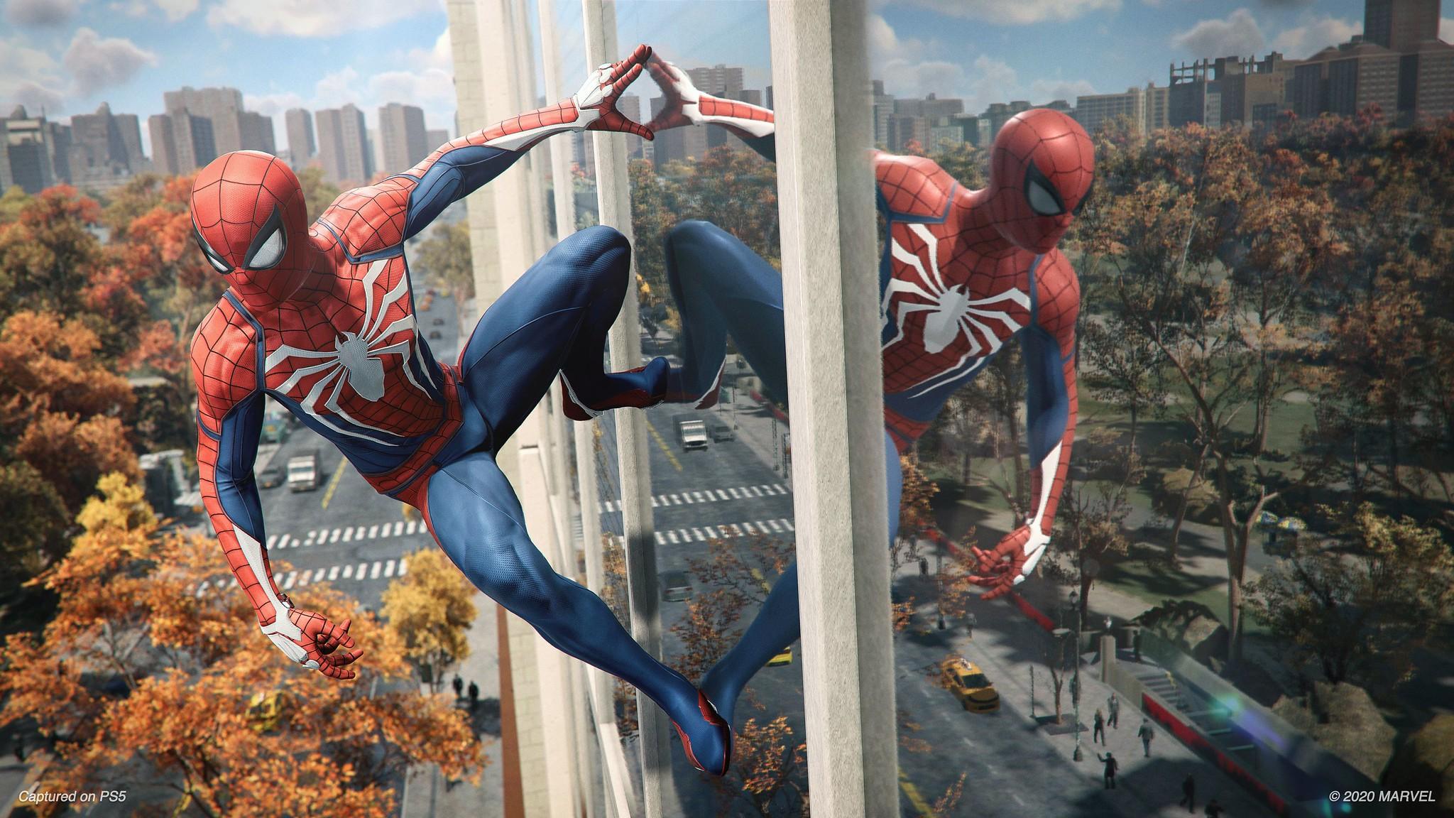 《漫威蜘蛛侠》PS5版60帧演示 Peter脸模换人