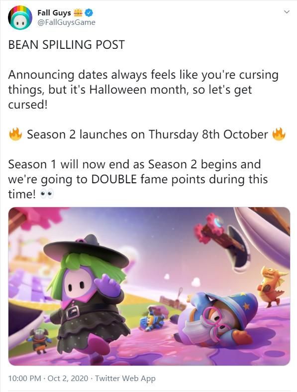 官宣:《糖豆人:终极淘汰赛》第二赛季10月8日正式上线