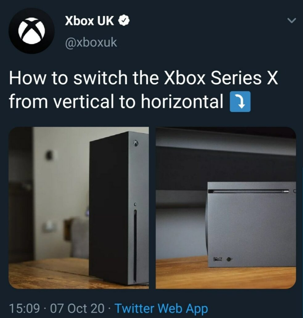 Xbox发推 嘲笑PS5从竖放切换到横放太麻烦