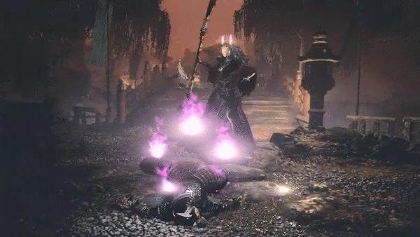 《仁王2》平安京讨魔传妖怪演示 为自己点蜡的强力女妖
