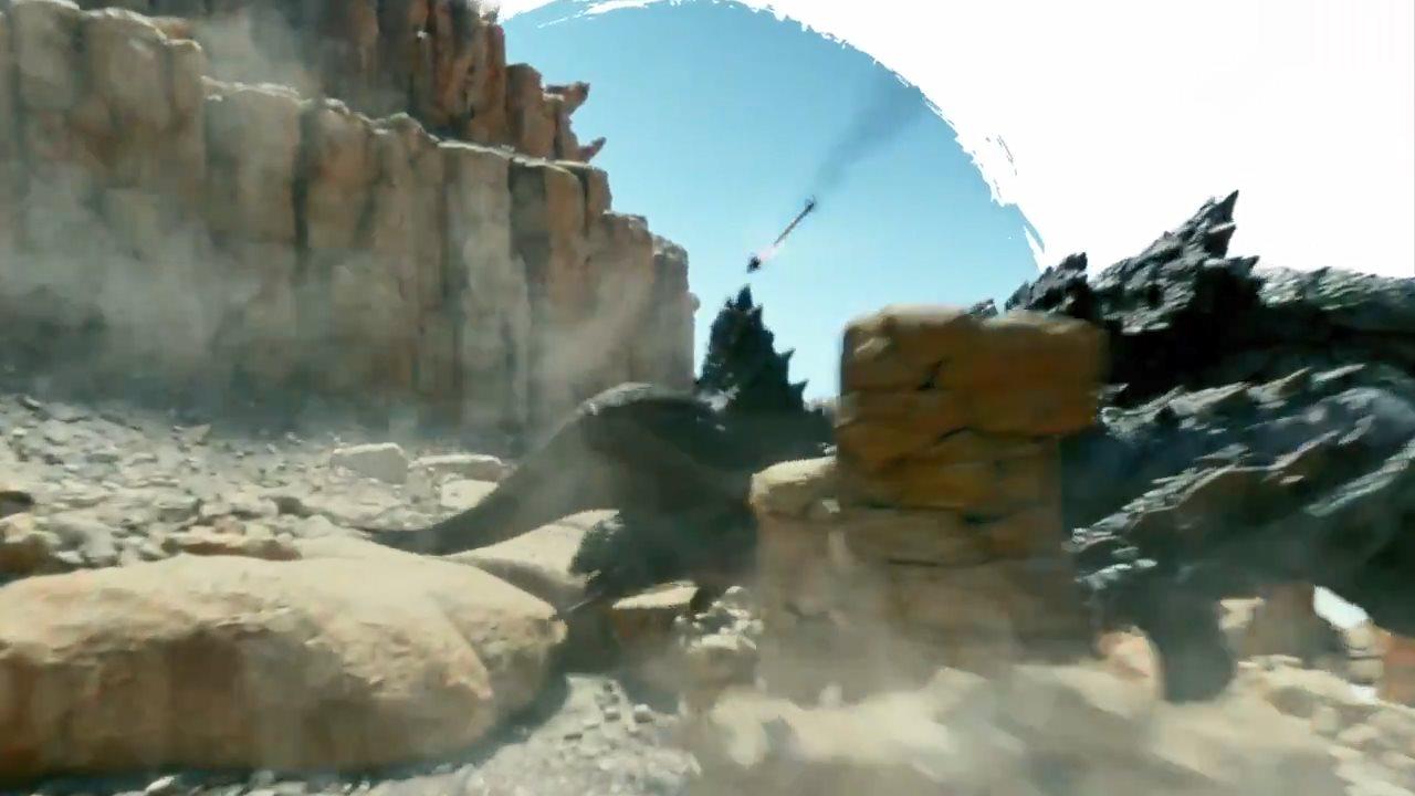 《怪物猎人》真人电影片段展示 托尼贾神箭射敌