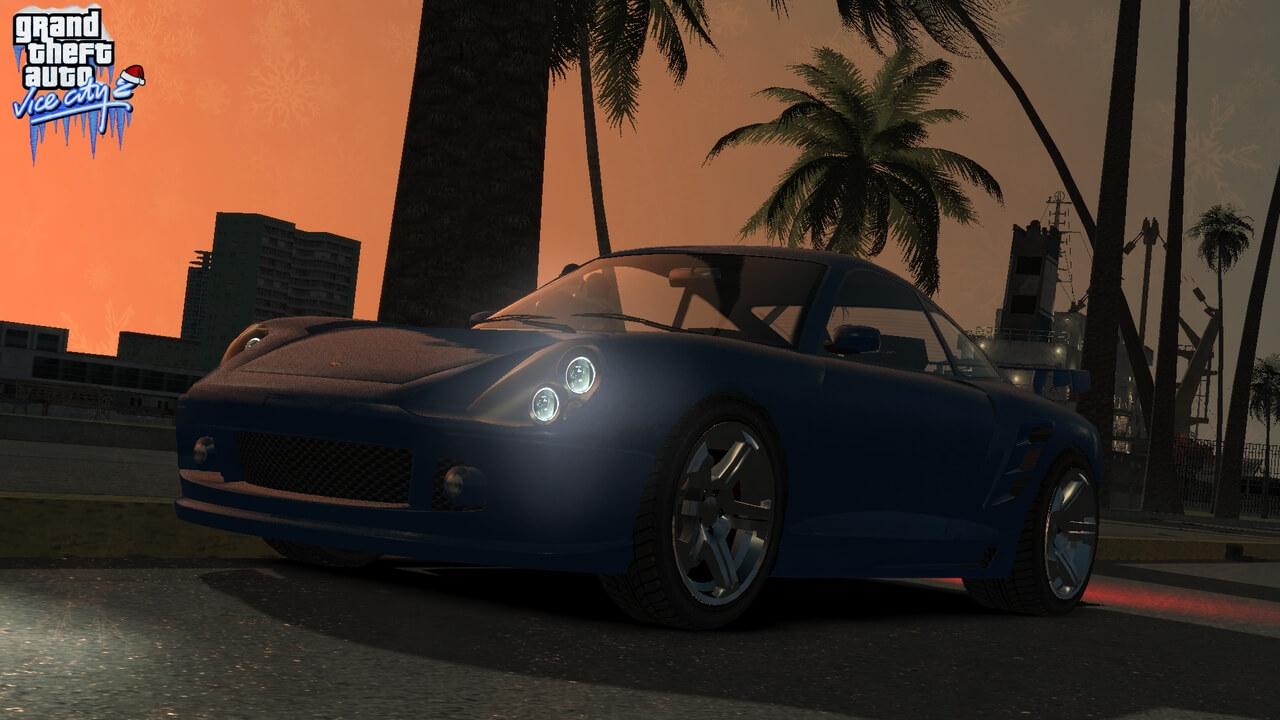 玩家自制《侠盗猎车:罪恶都市》重制版游戏截图