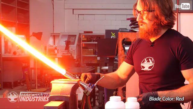 高玩打造最接近版《星战》光剑 4000度高温极度危险