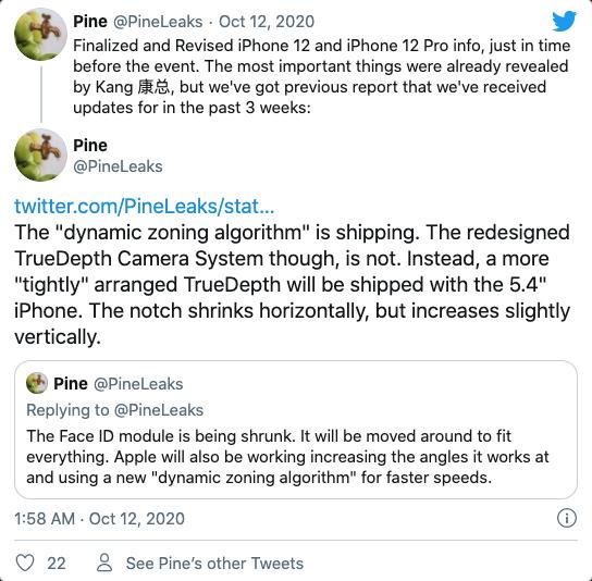 iPhone 12最新爆料:变焦改进续航更长 面容识别速