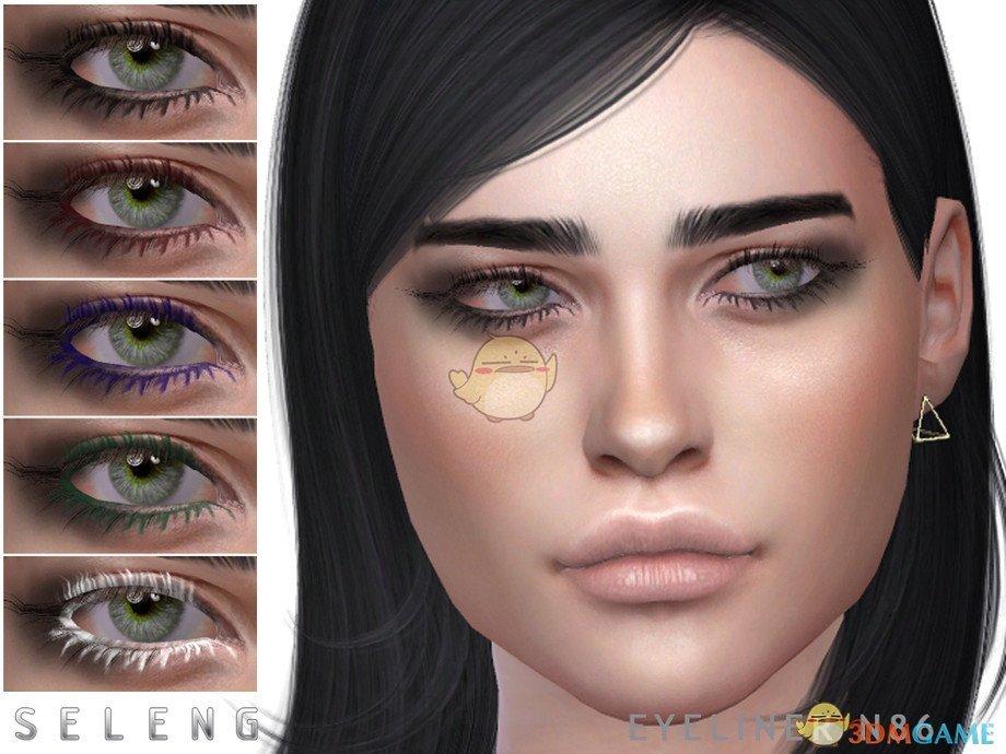 《模拟人生4》女性的美丽彩色眼影MOD