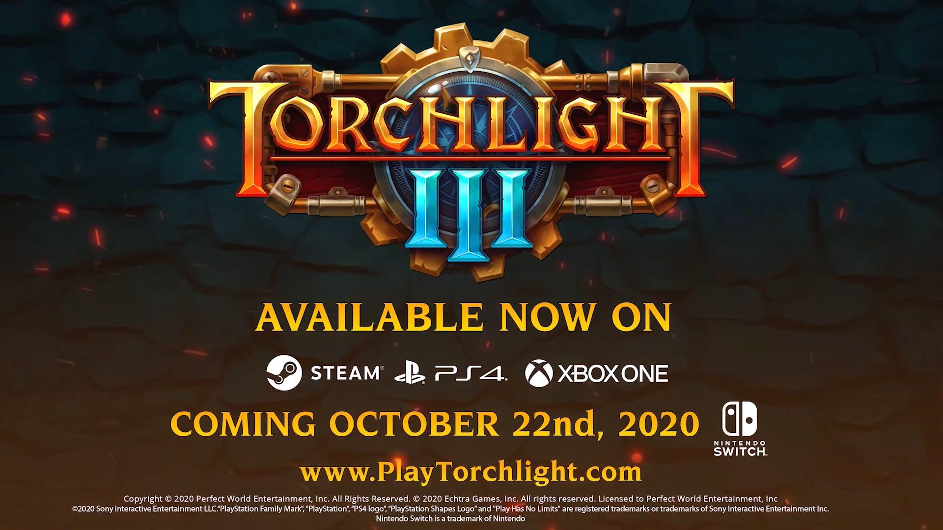 《火炬之光3》正式版今日上线 NS版10月22日发售