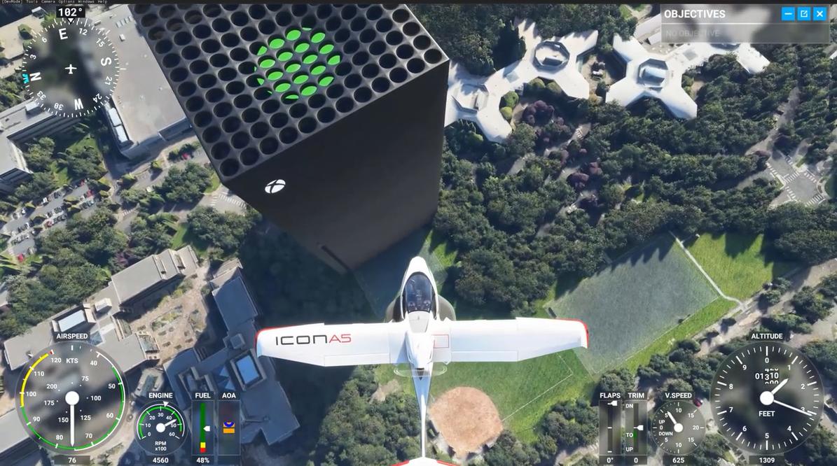 《微软飞行模拟》MOD  让Xbox Series X耸立在华盛顿!