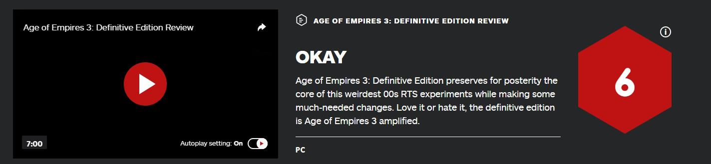 《帝国时代3:决定版》IGN评6分 像臭奶酪吸引力不大