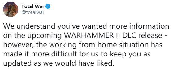 《全面战争:战锤2》新DLC确认12月发布 疫情带来困扰