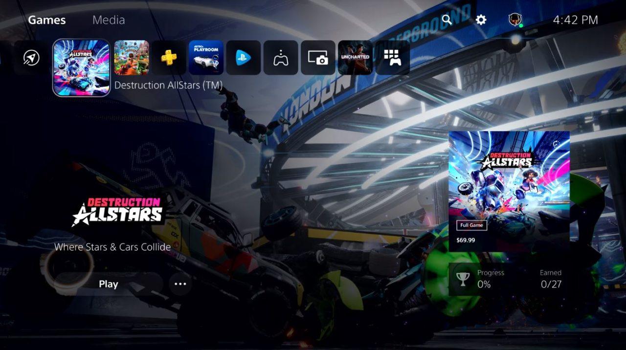 PS5更多UI视频释出:展示PS5的音乐和声效