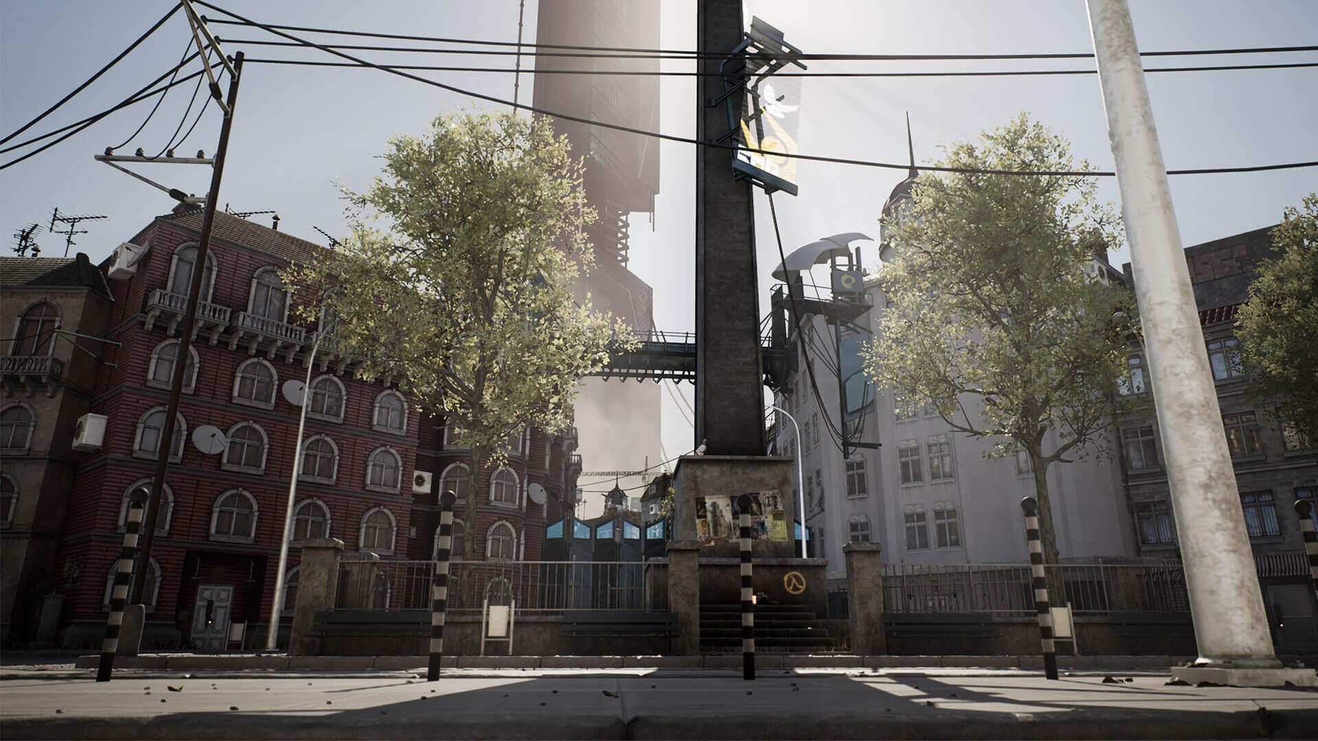 国外美工使用虚幻4重现《半条命2》游戏环境Plaza