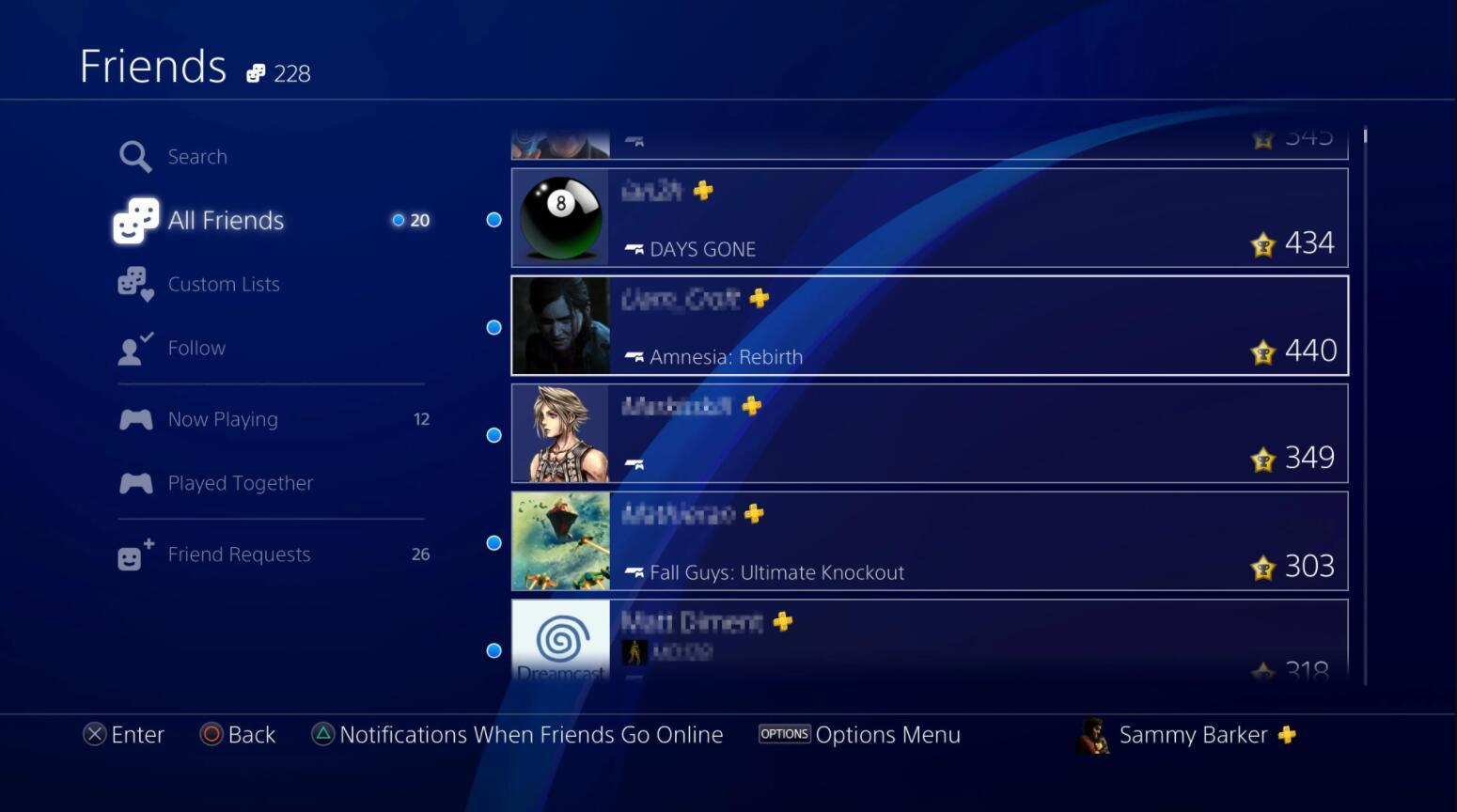 PS4好友列表现在会显示对方用的是哪款主机
