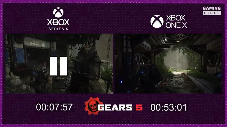 《战争机器5》XSX/X1X载入时间对比 XSX只需不到8秒