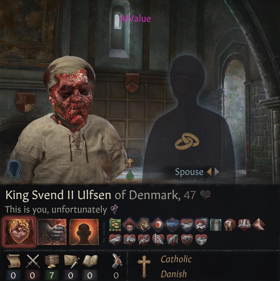 《十字军之王3》角色如果染上所有疾病会长什么样?